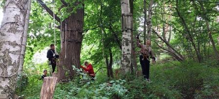 Im Kletterwald mit der 9R2